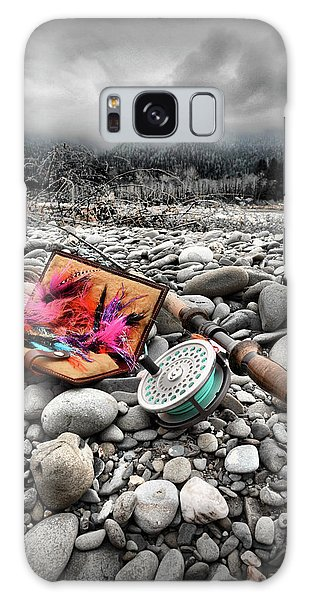 Fly Rod And Streamers Portrait Galaxy Case