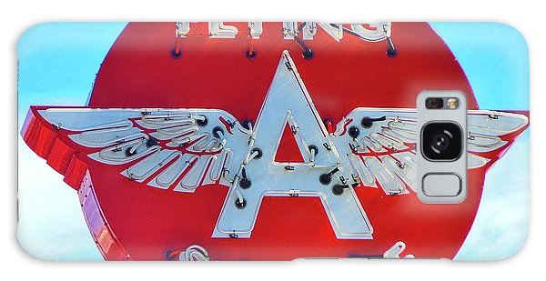 Flying A Service Sign Galaxy Case by Joan Reese