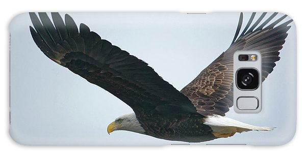 Flying Bald Eagle Galaxy Case