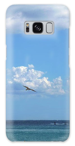 Galaxy Case featuring the photograph Flying By The Sea by Francesca Mackenney