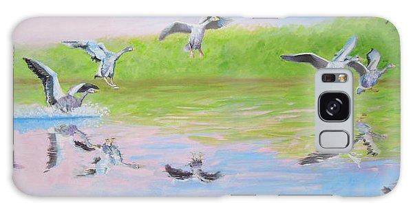 Flying Geese Galaxy Case