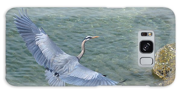 Flying Heron Galaxy Case by Jerry Cahill