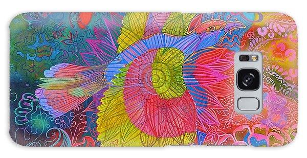Song Bird Galaxy Case - Flying Indian Roller Bird by Jane Tattersfield