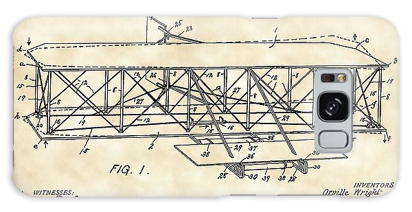 Flying Machine Patent 1903 - Vintage Galaxy Case by Stephen Younts
