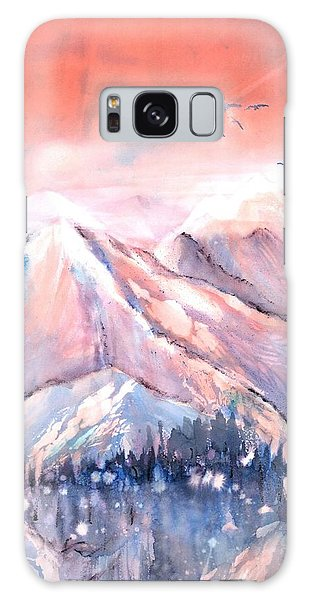 Flying Over The Mountains Galaxy Case