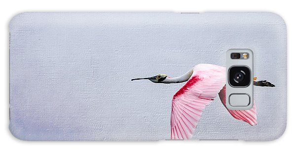 Flying Pretty - Roseate Spoonbill Galaxy Case