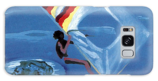 Flying Windsurfer Galaxy Case