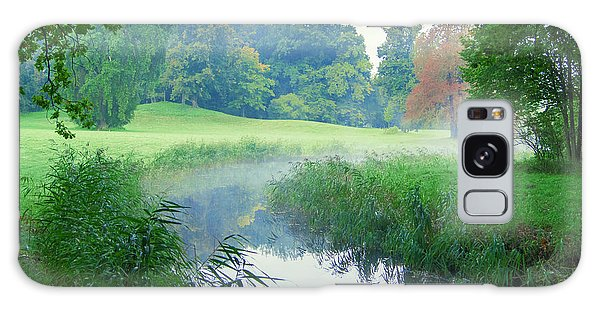 Fog Along A Creek In Autumn Galaxy Case