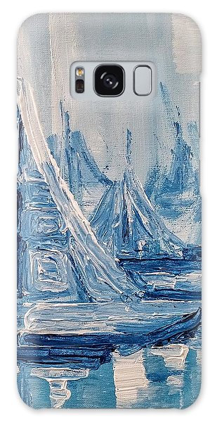 Galaxy Case featuring the painting Fog And Sails by Jennifer Hotai