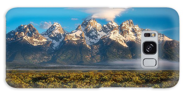 Teton Galaxy Case - Fog At The Tetons by Darren White