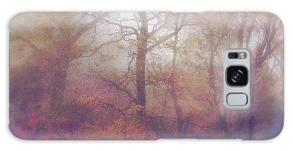 Fog In Autumn Mountain Woods Galaxy Case