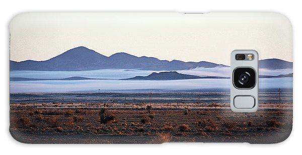Fog In The Peloncillo Mountains Galaxy Case