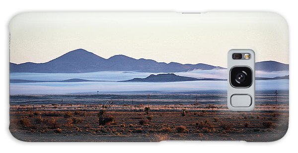 Fog In The Peloncillo Mountains Galaxy Case