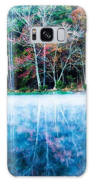Fog On The Lake Galaxy Case by Parker Cunningham