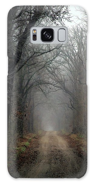Fog Shrouded Lane  7861 Dp_2 Galaxy Case