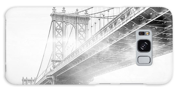 White Galaxy Case - Fog Under The Manhattan Bw by Az Jackson