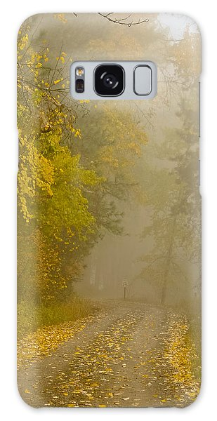 Foggy Autumn Morn Galaxy Case