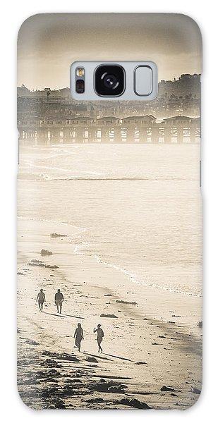 Foggy Beach Walk Galaxy Case