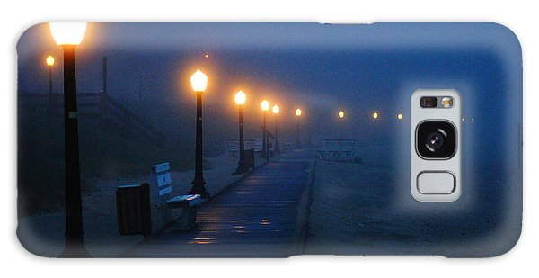 Foggy Boardwalk Blues Galaxy Case