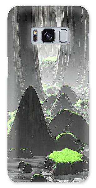 Foggy Canyon Walls Galaxy Case