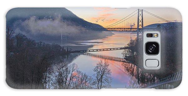 Foggy Dawn At Three Bridges Galaxy Case by Angelo Marcialis