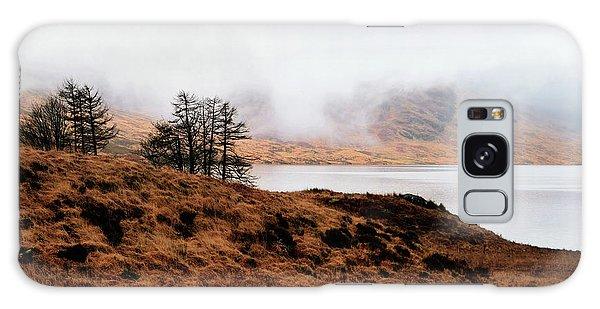 Foggy Day At Loch Arklet Galaxy Case