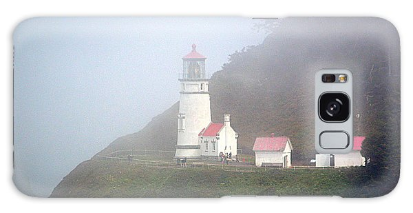 Galaxy Case featuring the photograph Foggy Day At The Heceta Head Lighthouse by AJ Schibig