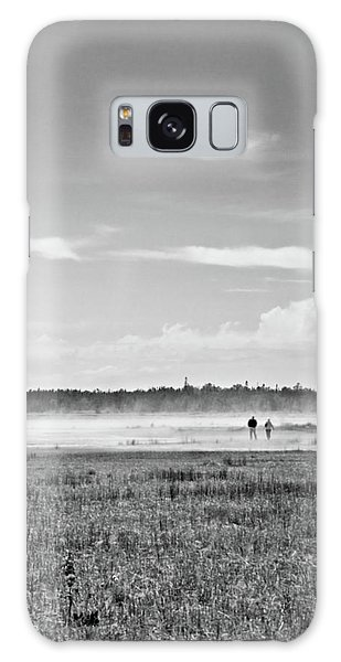 Foggy Day On A Marsh Galaxy Case