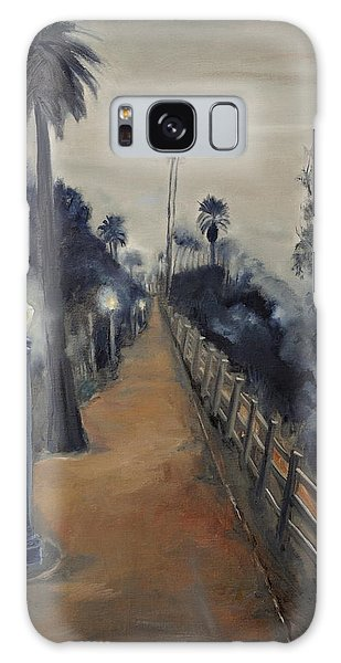 Foggy Day On Ocean Ave Galaxy Case by Lindsay Frost