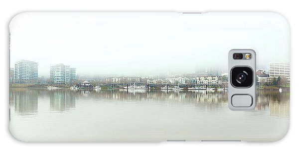 Foggy Day On Portland Downtown Waterfront Galaxy Case