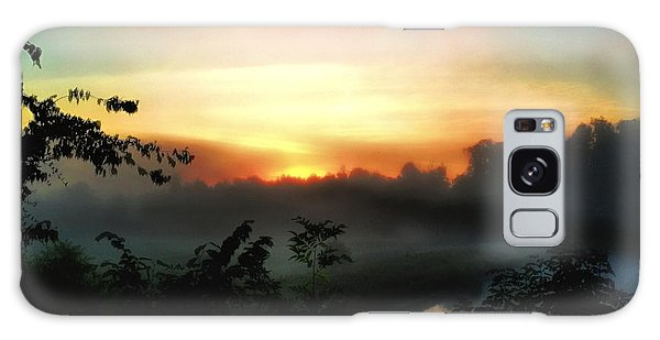 Foggy Edges Sunrise Galaxy Case