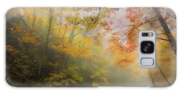 Foggy Fall Foliage II Galaxy Case