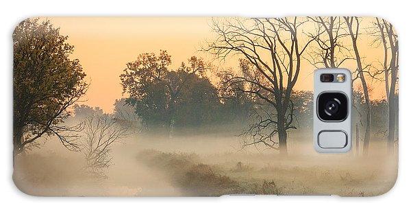 Foggy Fall Morning On Gary Avenue Galaxy Case by Joni Eskridge