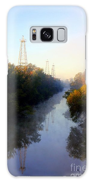 Foggy Fall Morning On The Sabine River Galaxy Case
