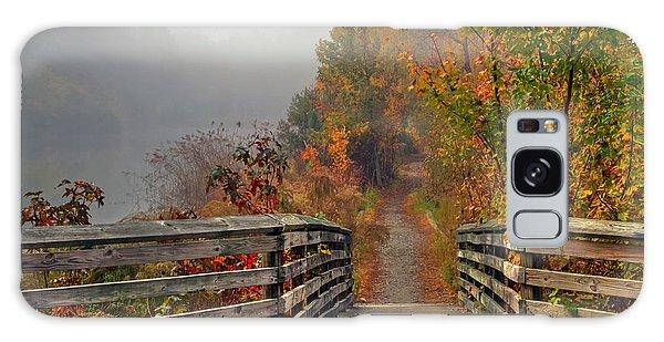 Foggy Fall Trail Galaxy Case