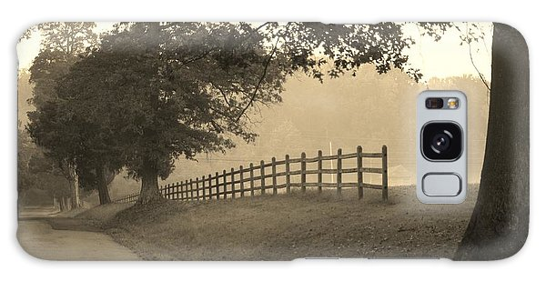 Foggy Fence Line Galaxy Case