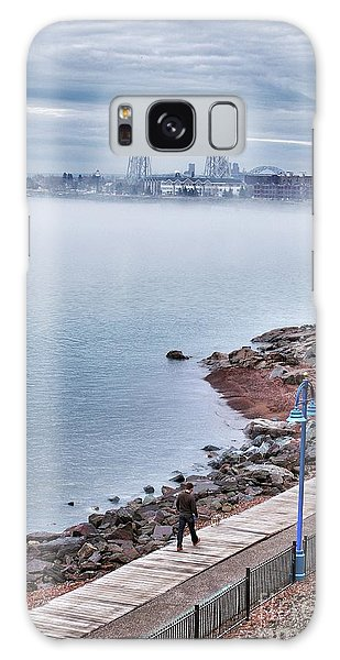 Foggy Lake Superior Afternoon Galaxy Case