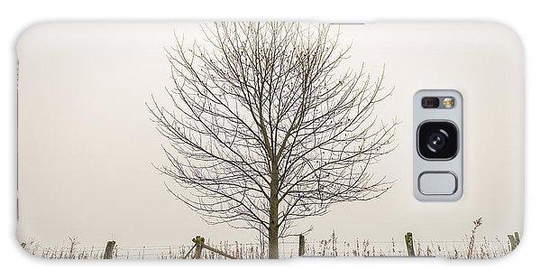 Foggy Lone Tree Hill Galaxy Case