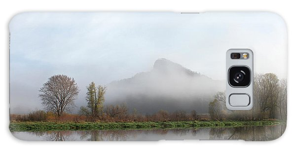 Foggy Morning Bluff Galaxy Case