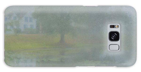 Foggy Morning On Pond Street Galaxy Case