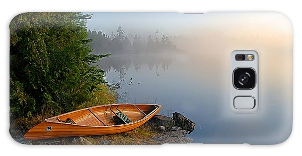 Landscape Galaxy Case - Foggy Morning On Spice Lake by Larry Ricker
