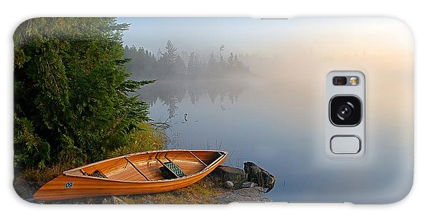 Foggy Morning On Spice Lake Galaxy Case