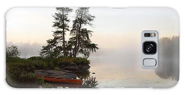 Foggy Morning On The Kawishiwi River Galaxy Case