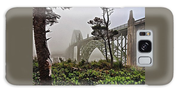 Galaxy Case featuring the photograph A Foggy Morning On Yaquina Bay by Thom Zehrfeld