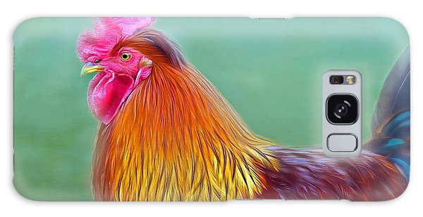 Foggy Morning Rooster Galaxy Case