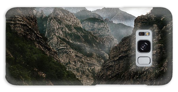 Foggy Mountains Over Neretva Gorge Galaxy Case