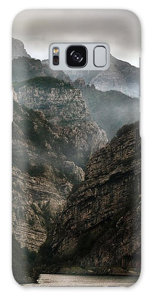 Foggy Mountains Over Neretva Gorge Galaxy Case