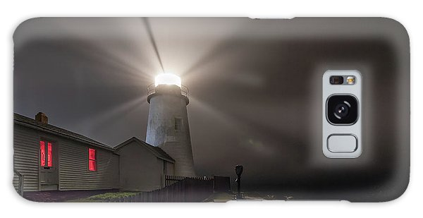 Foggy Night At Pemaquid Point Lighthouse Galaxy Case