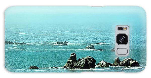 Sunny Blue Pacific Ocean Along The Oregon Coast Galaxy Case
