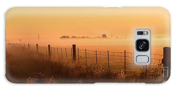 Foggy Sunrise On Hawkins Rd Galaxy Case